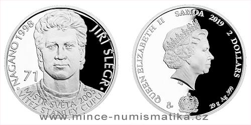 Stříbrná mince Legendy čs. hokeje - Jiří Šlégr