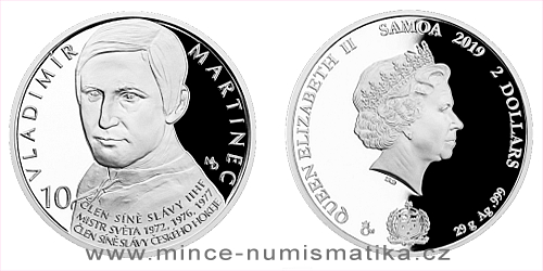 Stříbrná mince Legendy čs. hokeje - Vladimír Martinec