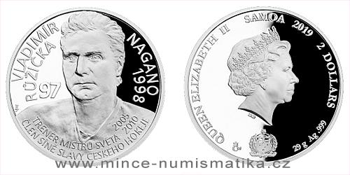 Stříbrná mince Legendy čs. hokeje - Vladimír Růžička