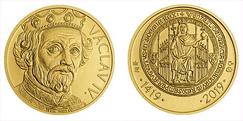 2019 - Zlatý dukát Václav IV. k 600. výročí úmrtí