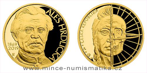 Zlatá půluncová medaile Aleš Hrdlička