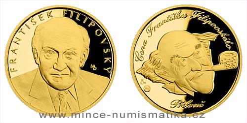 Zlatá čtvrtuncová medaile Hvězdy stříbrného plátna - František Filipovský