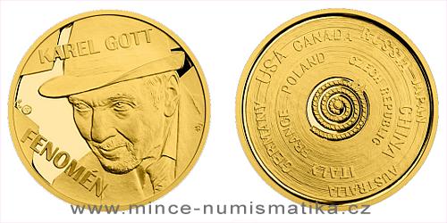 Zlatá půluncová medaile Karel Gott - Fenomén