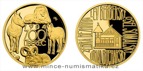Zlatá čtvrtuncová medaile Příběhy naší historie - Liberecká ZOO