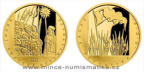 Zlatá půluncová medaile První pražská defenestrace