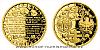 Zlatá půluncová medaile Zahájení vydávání československých platidel