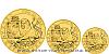Sada zlatých mincí Český lev 2019 standard - 5 Oz, 10 Oz, 1kg