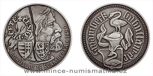 Stříbrná medaile České pečetě - Bohuslav ze Švamberka
