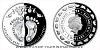 Stříbrná mince Crystal Coin - K narození dítěte 2