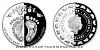 Stříbrná mince Crystal Coin - K narození dítěte