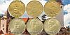 Sada oběžných 20 Kč mincí 2018 - Rok republiky / 2019 - Rok měny