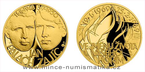 Zlatý dukát Národní hrdinové - Jan Palach a Jan Zajíc