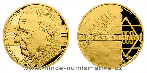 Zlatý dukát Národní hrdinové - Sir Nicholas Winton