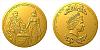 Zlatá dvouuncová mince Napoleon Bonaparte a Marie Luisa Habsbursko-Lotrinská
