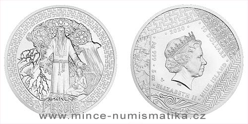 Stříbrná mince Bohové světa - Perun