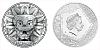 Stříbrná mince Bohové světa - Quetzalcóatl