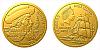 Zlatá čtvrtuncová mince Na vlnách - Fernão de Magalhães