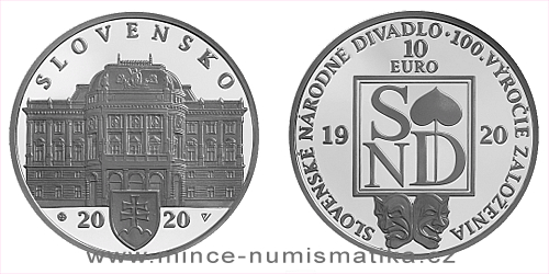 10 € - 100. výročie založenia - Slovenské národné divadlo