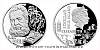 Stříbrná mince Géniové 19. stol. - A. G. Bell