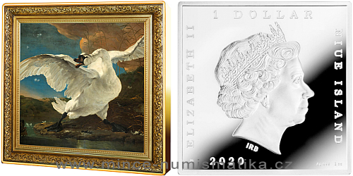 2020 - 1 NZD Jan Asselijn - The Threatened Swan / Ohrožená labuť