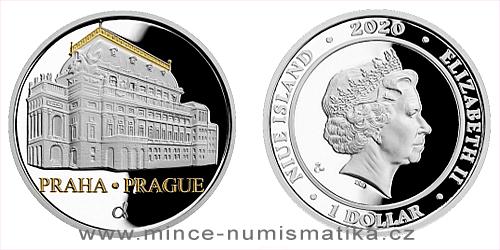 Stříbrná mince Národní divadlo
