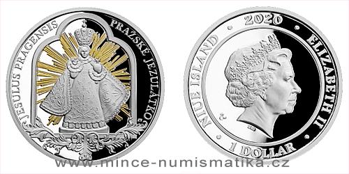 Stříbrná mince Pražské jezulátko