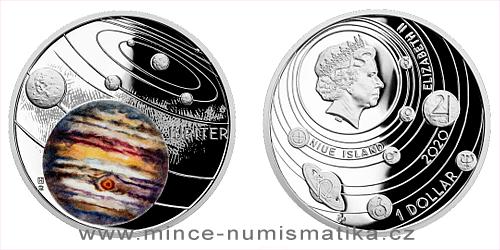 Stříbrná mince Sluneční soustava - Jupiter