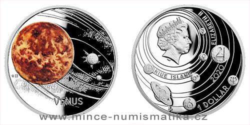 Stříbrná mince Sluneční soustava - Venuše