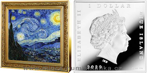 2020 - 1 NZD Vincent Van Gogh - Starry Night / Hvězdná noc