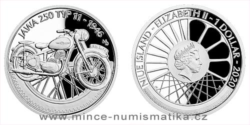 Stříbrná mince Na kolech - Motocykl JAWA 250 typ 11