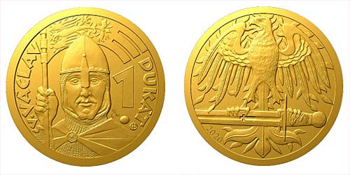 Zlatý 1 dukát sv. Václava se zlatým certifikátem