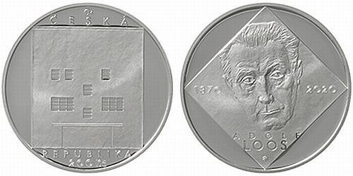 200 Kč - 150. výročí narození - Adolf Loos