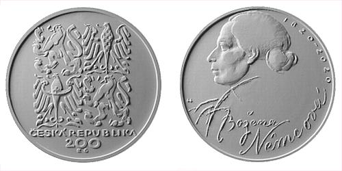 200 Kč - 200. výročí narození - Božena Němcová