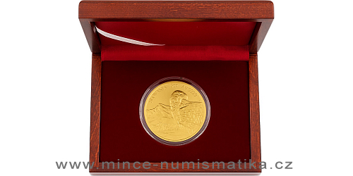 Zlatá pětiuncová investiční mince Orel 2020