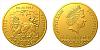 Zlatá pětiuncová investiční mince Český lev 2020