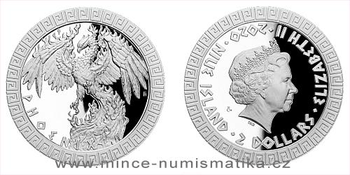 Stříbrná mince Bájní tvorové - Fénix