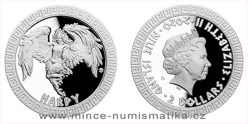 Stříbrná mince Bájní tvorové - Harpyje
