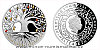 Stříbrná mince Crystal Coin - Strom života Podzim