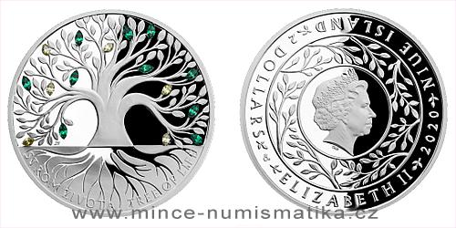Stříbrná mince Crystal Coin - Strom života