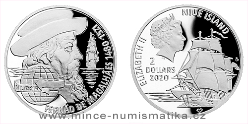 Stříbrná mince Na vlnách - Fernão de Magalhães