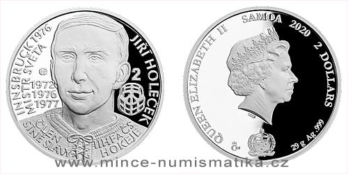 Stříbrná mince Legendy čs. hokeje - Jiří Holeček