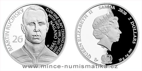 Stříbrná mince Legendy čs. hokeje - Martin Ručínský