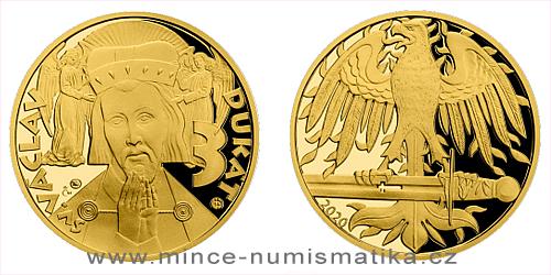 Zlatý 3 dukát sv. Václava se zlatým certifikátem