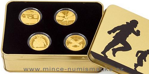 Sada čtyř zlatých mincí Válečný rok 1940