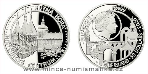 Platinová uncová mince UNESCO - Kutná Hora - historické centrum