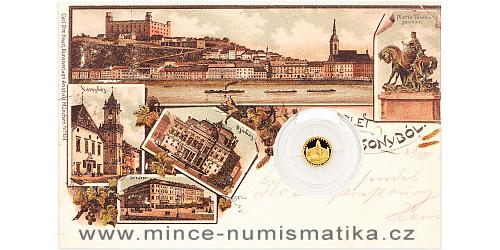 Zlatá mince Bratislava - Bratislavský hrad