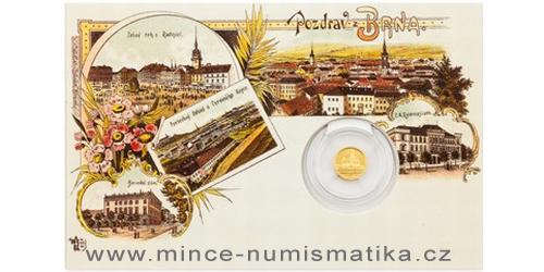 Zlatá mince Brno - Katedrála sv. Petra a Pavla