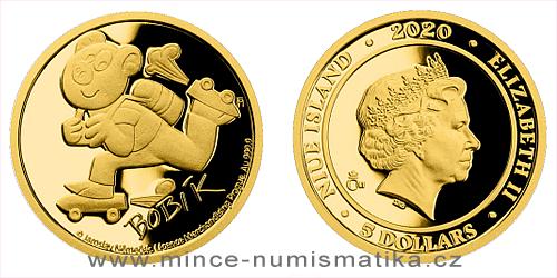Zlatá mince Čtyřlístek - Bobík
