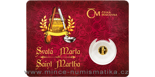 Zlatá mince Patroni - Svatá Marta