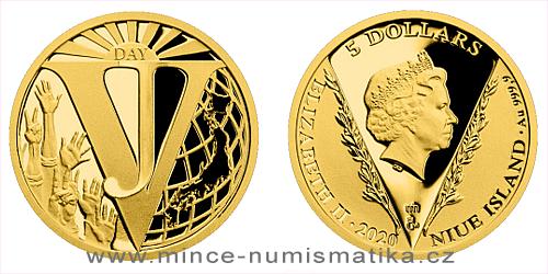 Zlatá mince Konec 2. světové války v Pacifiku